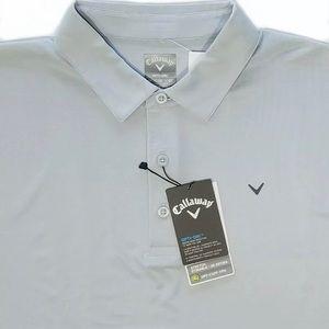 Callaway Shirts - Callaway Opti Dri Light Gray XL Stretch Golf Polo